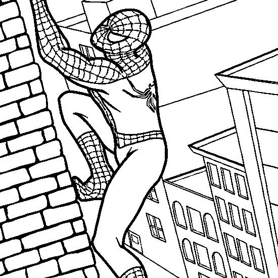 Spiderman  7 (superhéroes) – Páginas Para Colorear