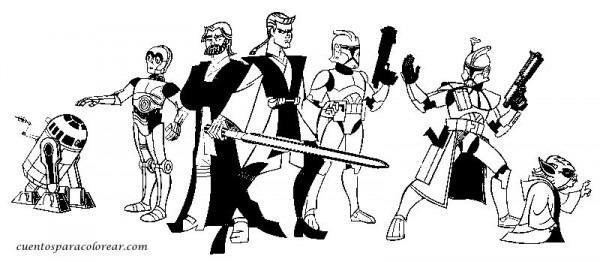 Star Wars  256 (películas) – Páginas Para Colorear
