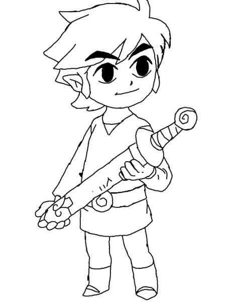 Zelda  62 (videojuegos) – Páginas Para Colorear