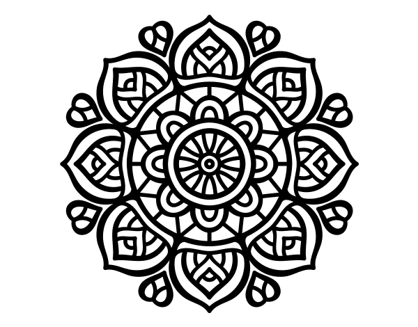 Dibujo De Un Mandala Para La Concentración Mental Para Pintar