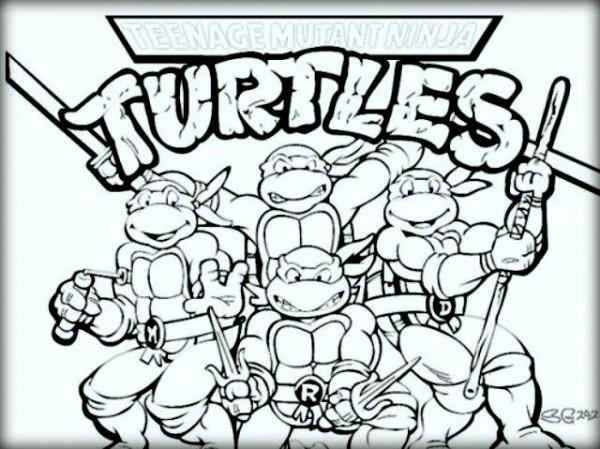 Las 10 Mejores Páginas Para Colorear Tortugas Ninja Para Niños
