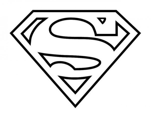 Logo De Superman Para Colorear