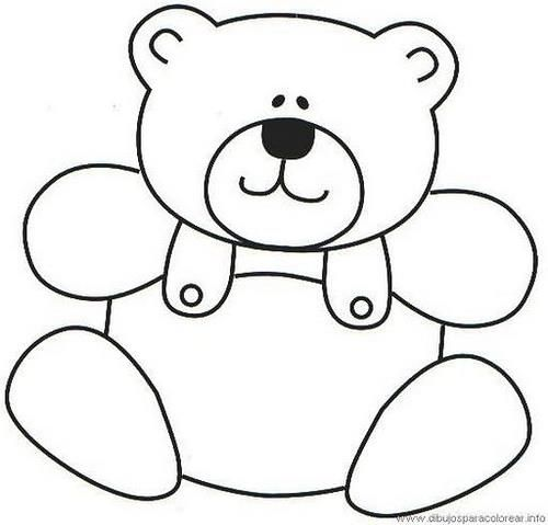 Teddy Bear Pattern For Scrapbooking Or Card Making