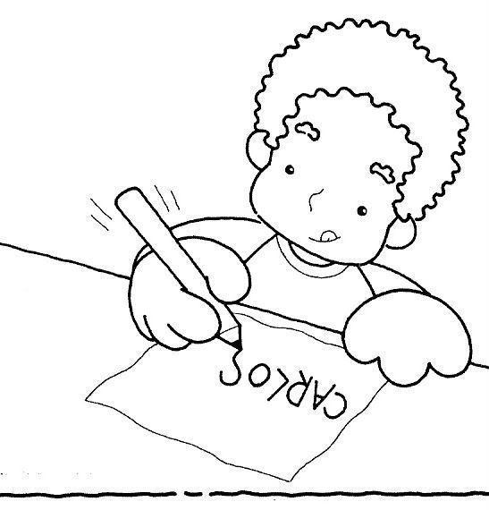 Escribir Dibujo Para Colorear