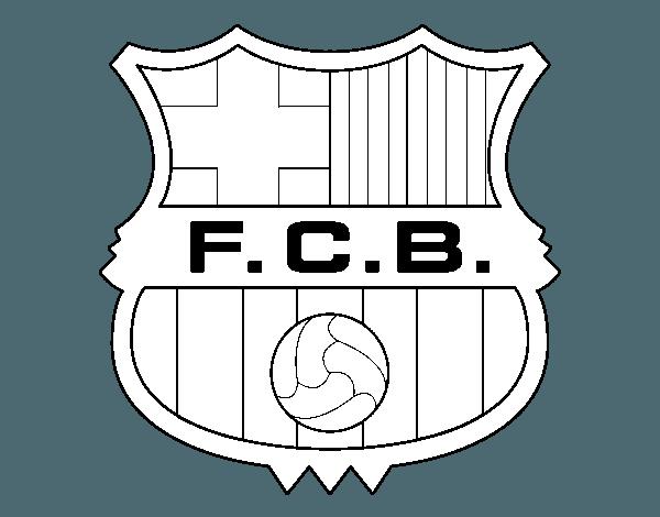 Dibujo De Escudo Del F C  Barcelona Para Colorear