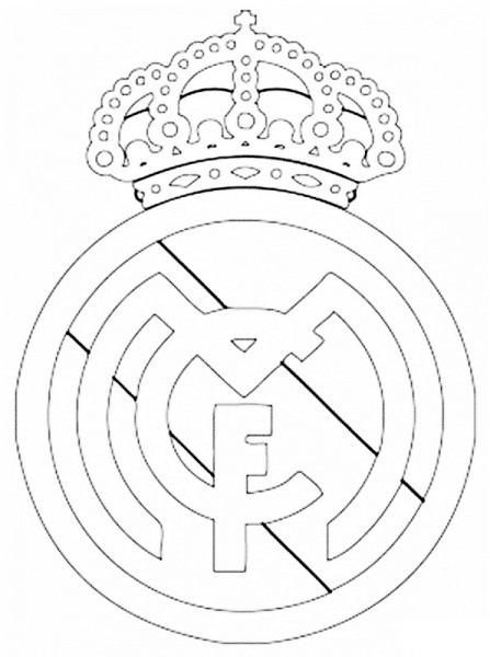 Escudo Del Madrid Para Colorear