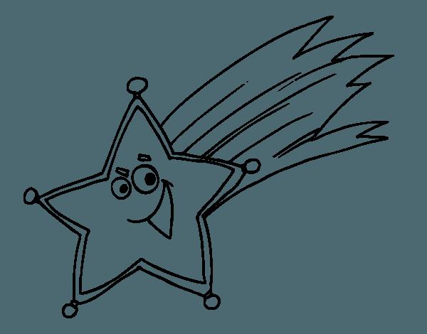 Dibujo De Estrella Fugaz Para Colorear