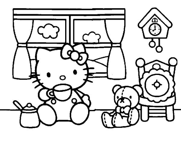 20 Mandalas De Hello Kitty Para Colorear