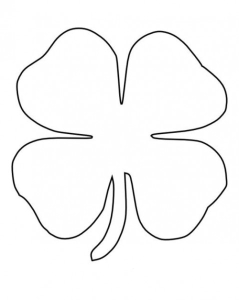 Four Leaf Clover Coloring Pages