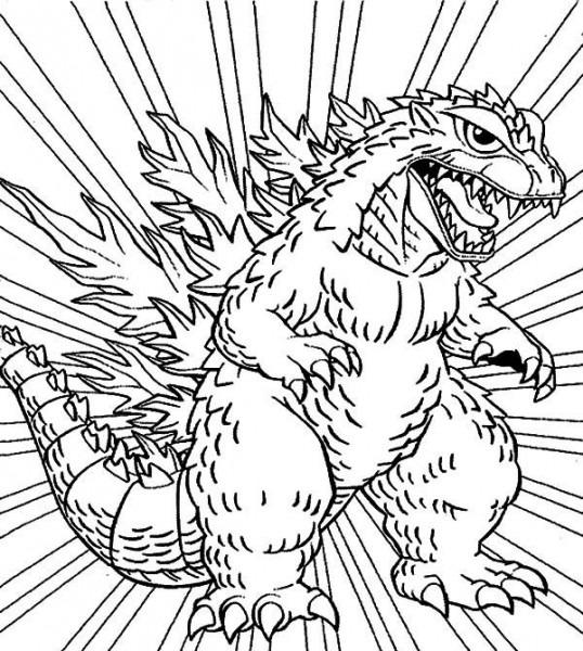 Godzilla,   Godzilla Coloring Pages For Kids