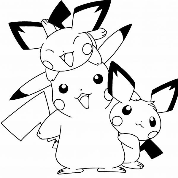 Dibujos Pikachu Para Dibujar, Imprimir, Colorear Y Recortar