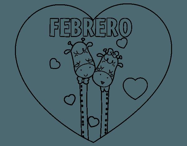 Dibujo De Febrero Para Colorear