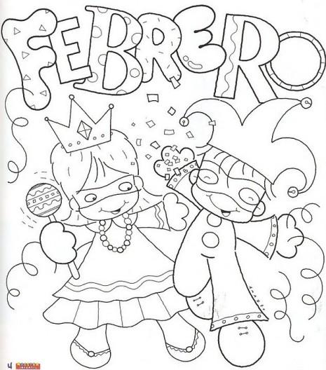 Dibujos Divertidos Del Mes De Febrero Para Colorear
