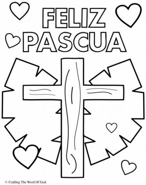 Carteles De Feliz Pascua Para Imprimir Y Colorear El Domingo
