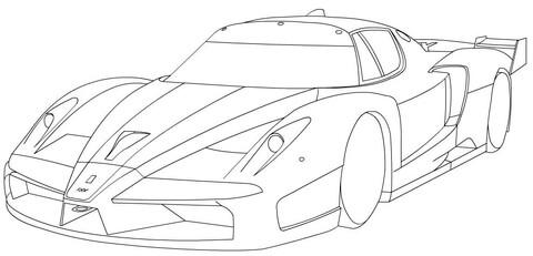 Dibujo De Ferrari Fxx Para Colorear