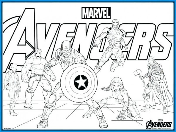Dibujos Para Colorear Avengers