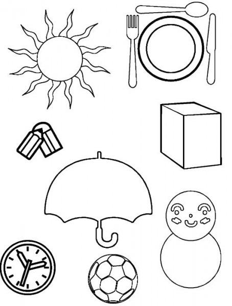 Objetos Circulares Para Colorear