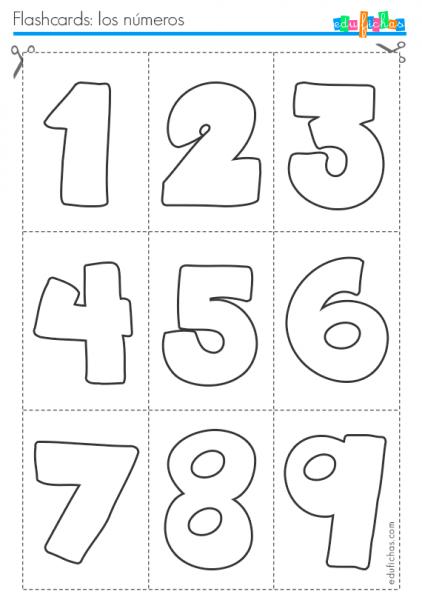 Flashcards Para Aprender Los Números  Fichas Infantiles