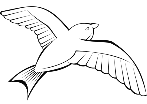Dibujo De Paloma Volando Para Colorear