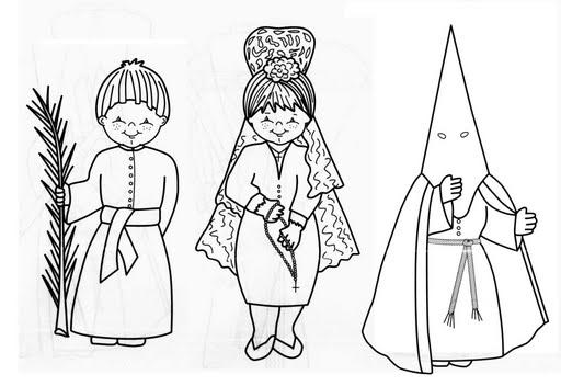 Dibujos Para Colorear De Semana Santa Y Nazareno Para Imprimir Y
