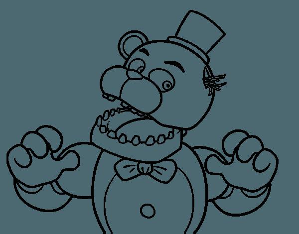 Dibujo De Freddy De Five Nights At Freddy's Para Colorear