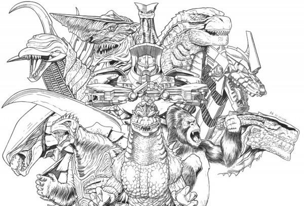 Dibujo Para Colorear Godzilla   Godzilla, King Kong Y Gamera 12