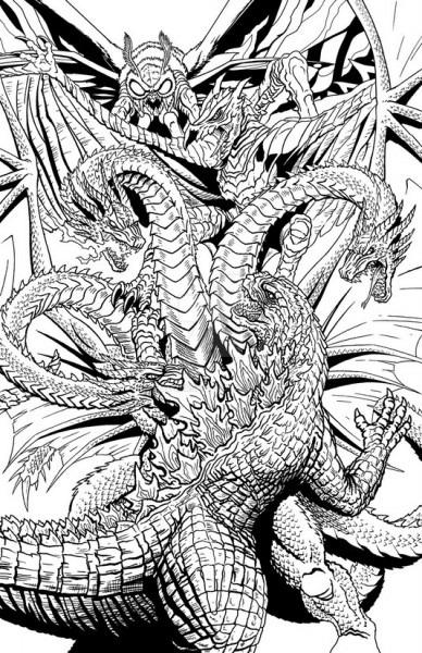 Dibujo Para Colorear Godzilla   Godzilla 2