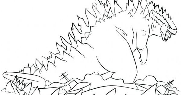 Dibujos Para Colorear De Godzilla