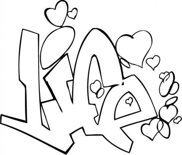 Dibujos De Graffitis De Amor Para Pintar