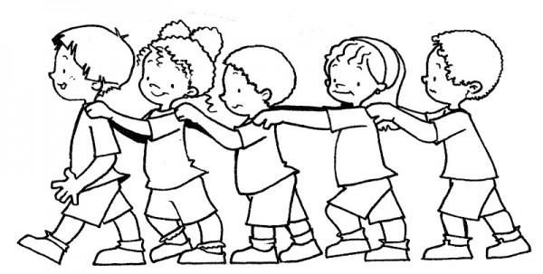 Dibujos Para Colorear Grupo De Nios