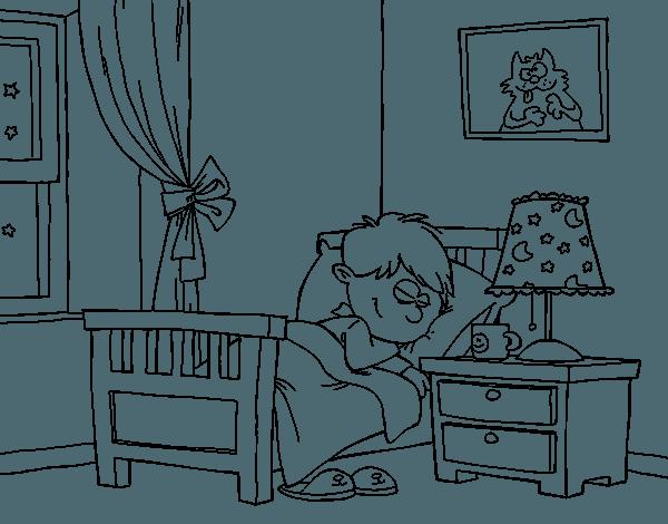 Dibujo De Habitación Para Colorear
