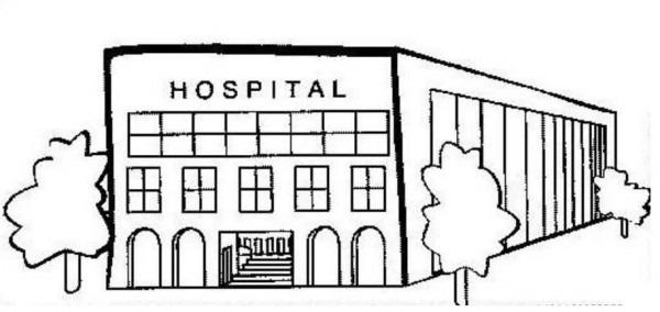 Dibujos De Hospitales Para Colorear