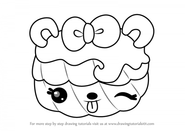 Learn How To Draw Valerie Vanilla From Num Noms (num Noms) Step By
