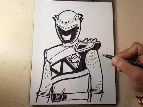 How To Draw Power Ranger Dino Charge — Grapyte   Como Dibujar