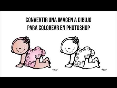 Convertir Una Imagen A Dibujo Para Colorear En Photoshop