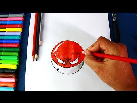 How To Draw Voltorb (pokemon Go)