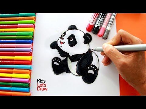 Cómo Dibujar Y Pintar Un Oso Panda Paso A Paso