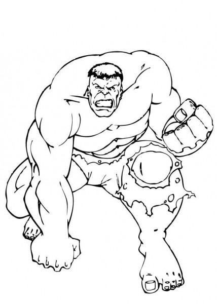 Hulk Holds On Strong Coloring Pages