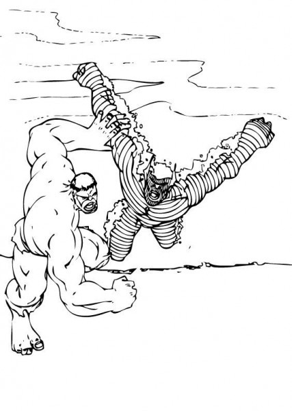 Hulk And Abomination Coloring Pages