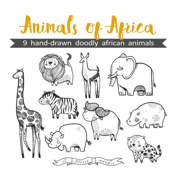 Animales De Africa Para Colorear