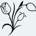 Dibujo De Flores Para Colorear Y Recortar