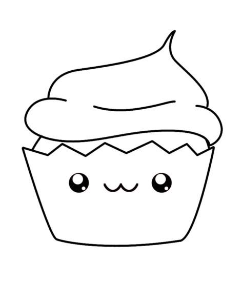 Dibujo De Helado Kawaii Para Colorear Acerca De Helado