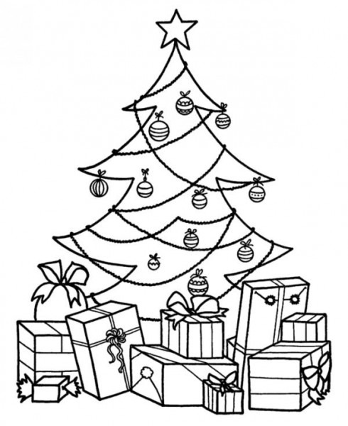 Árboles De Navidad Para Colorear