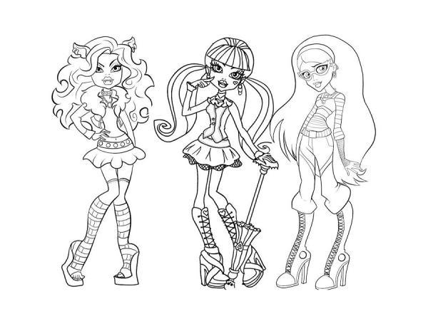 Dibujos De Las Monster High Para Colorear