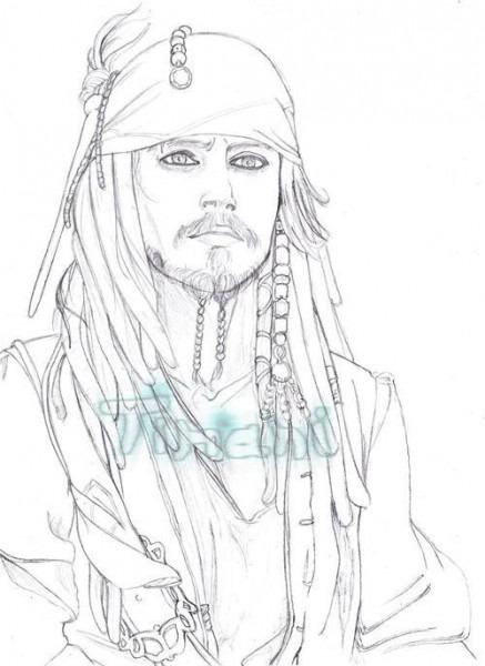 √ Jack Sparrow Dibujos Para Colorear