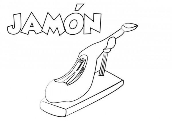 Dibujo Jamón Para Imprimir Y Colorear