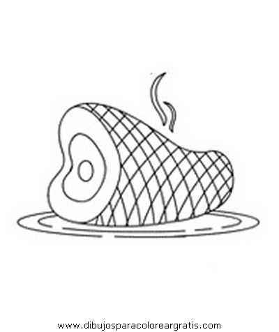 Dibujo Jamon_1 En La Categoria Alimentos Diseños