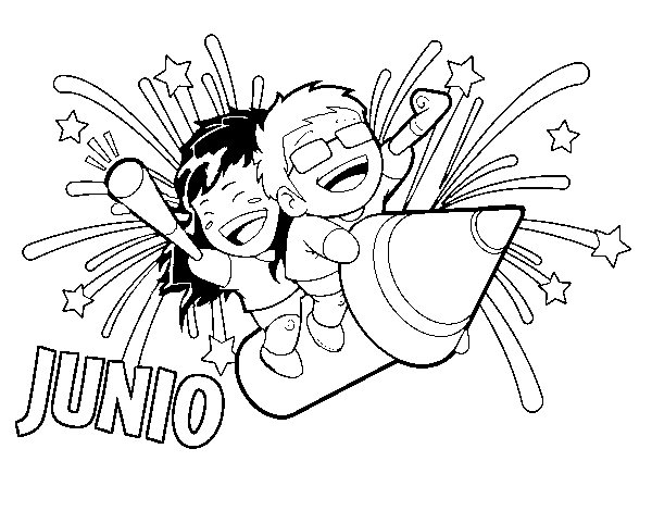 Dibujo De Junio Para Colorear
