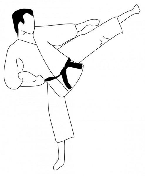 Imágenes Para Colorear De Karate