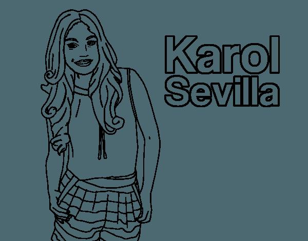 Dibujo De Karol Sevilla Para Colorear
